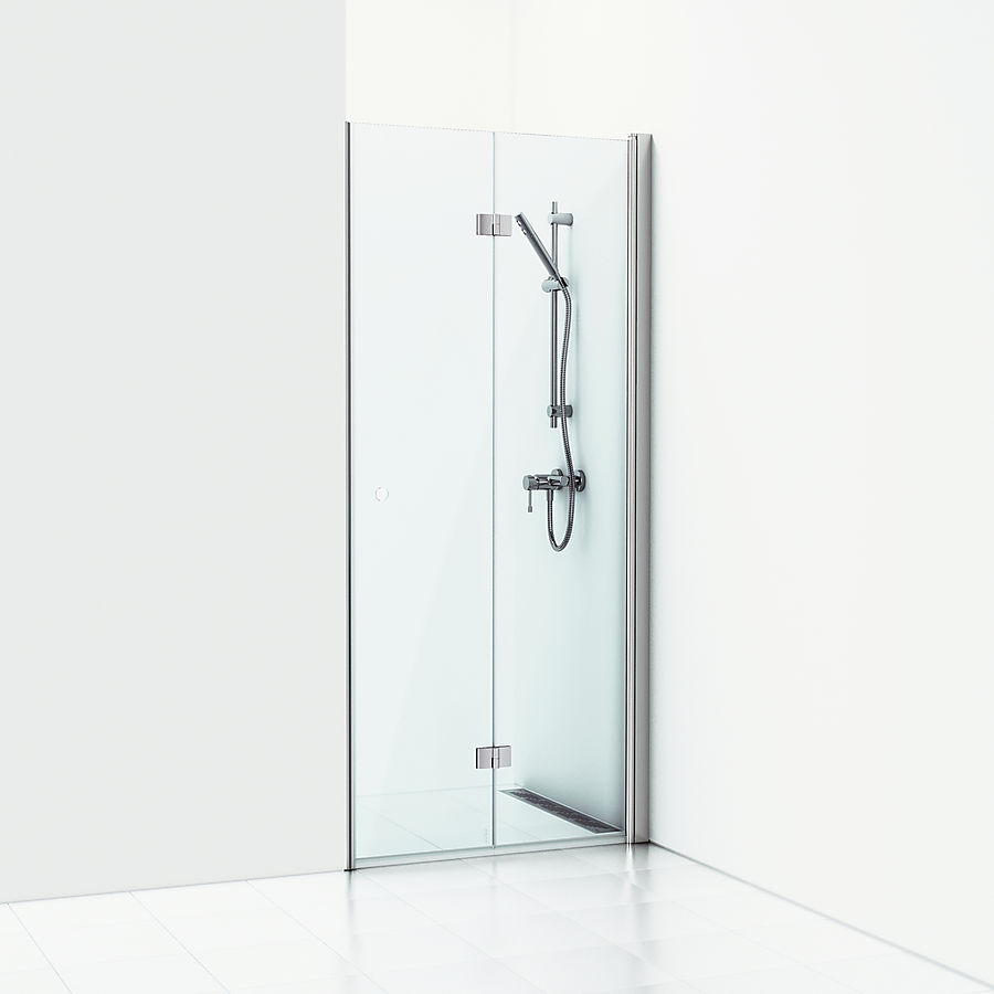 Svedbergs Forsa Foldedør 800 mm Høyre Alu Matt/Klart Glass