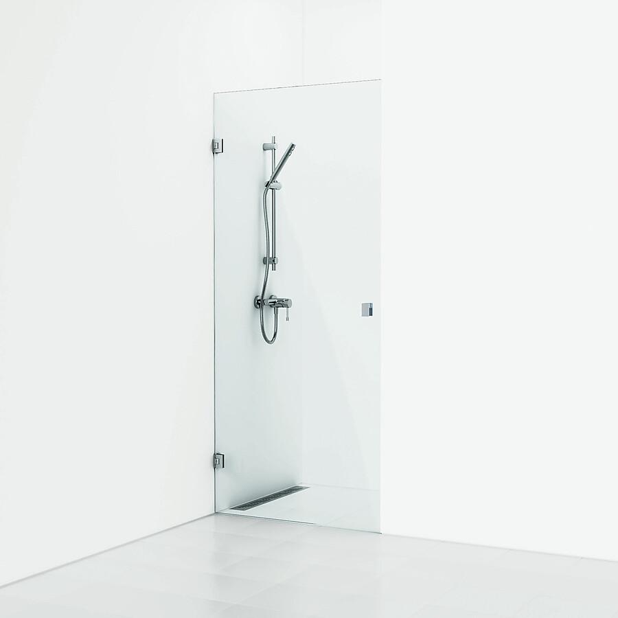 Svedbergs 180° Dusjnisje 800 mm Blank Krom/Klart Glass