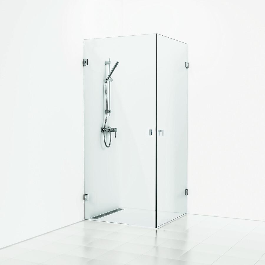 Svedbergs 180° Hjørnedusj 800x800 mm Blank Krom/Klart Glass