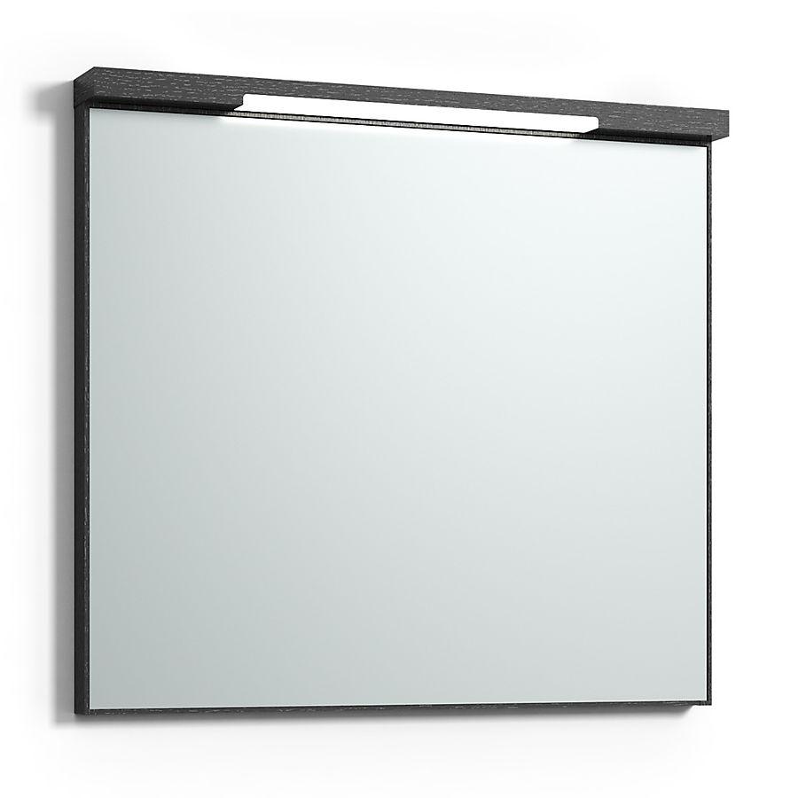 Svedbergs Top-Mirror Speil m/LED-lys 800 x 730 mm Sort Eik