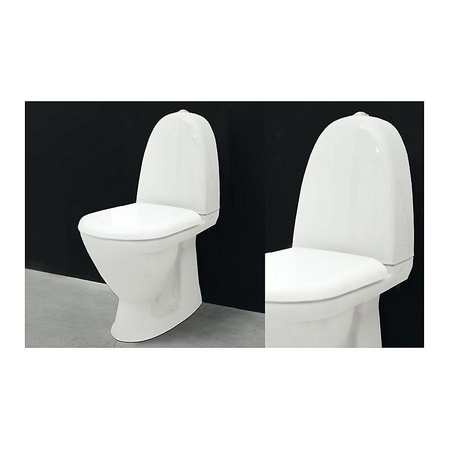 Svedbergs WC 9082 Gulvstående toalett 655x870 mm m/myktlukkende sete og lokk