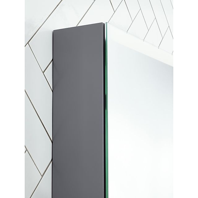 Svedbergs Sober 80 Speilskap m LED lys 800×700 mm, Grå vvskupp no
