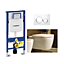#100605 Duravit  Duravit ME by Starck Rimless Toalettpkt. Inkl. sits, cistern och spolplatta, WG