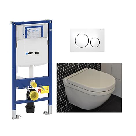 #100016 Duravit  Duravit Starck 3 Compact Toalettpaket Inkl. sits, cistern och spolplatta. WG