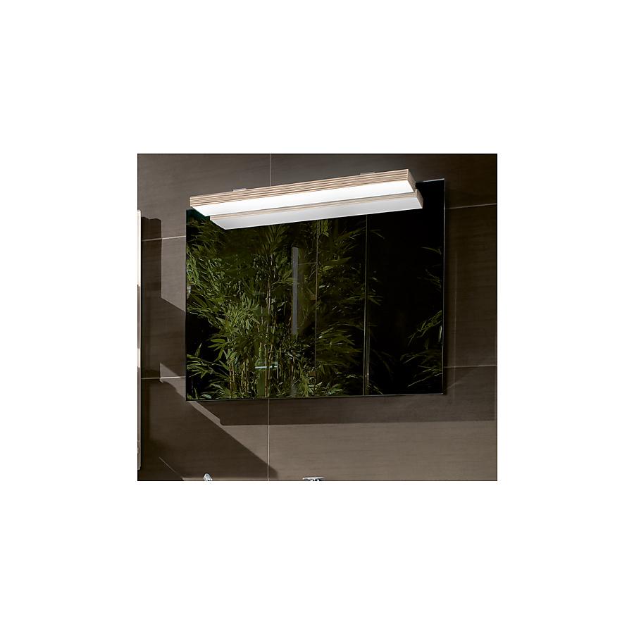 V&B Memento Speil m/LED lys 1200x750 mm. Lys Eik