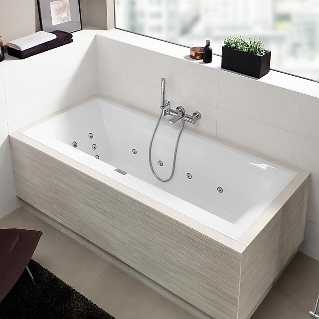 v b squaro edge 12 boblekar f innbygging 1700x750 mm m airpool comfort. Black Bedroom Furniture Sets. Home Design Ideas