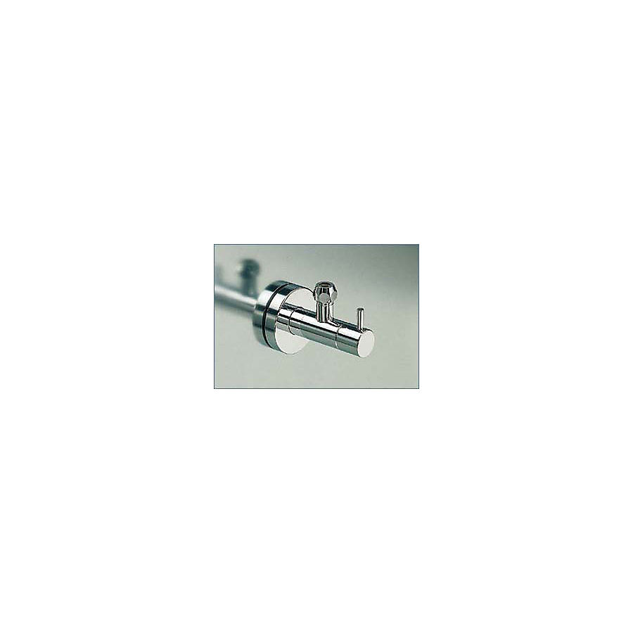 """Vola S10 1/2"""" vinkel avstegningsventil 60mm rosetter rustfritt"""